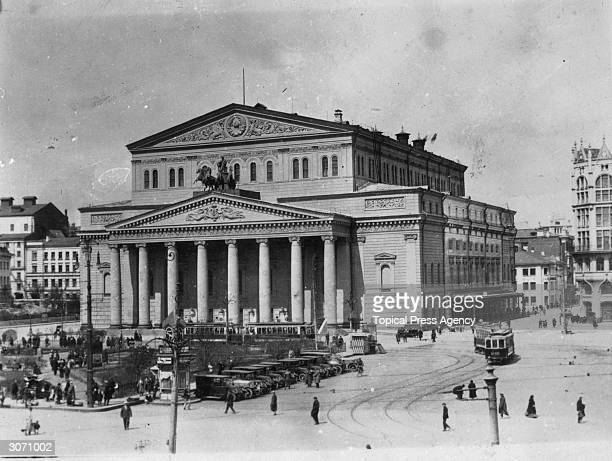 The Bolshoi Theatre Moscow an example of Russian neoclassic architectural design