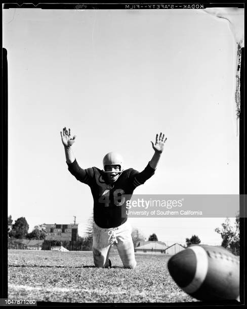 The Bomb' 18 November 1956 Bob BagwellCoach Stu PikeSupplementary material includes a newspaper clipping from the November 18 1956 edition of the Los...
