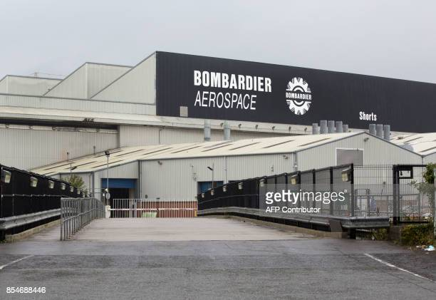 The Bombardier headquarters and factory are pictured in Belfast on September 27 2017 The US Commerce Department on September 27 said it would impose...