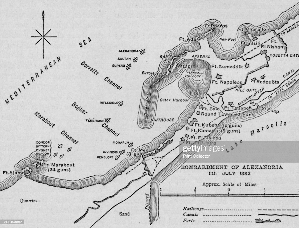 The Bombardment Of Alexandria Sketch Map 1902 Pictures Getty Images