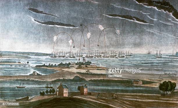 The bombardment of Fort McHenry by British forces on September 13 1814 The defense of the fort inspired Francis Scott Key to write the poem which...