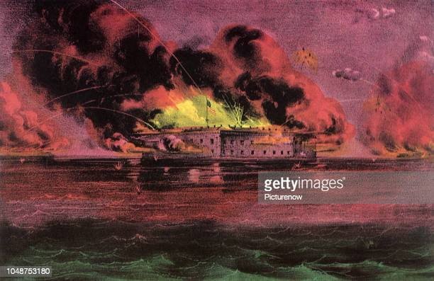 The Bombardment of Fort Sumter in Charleston Harbor