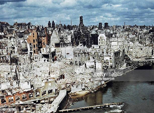 The bombedout city of Nuremberg June 1945 Nuremberg had been the host of huge Nazi Party conventions from 1927 to 1938 The city was also the...