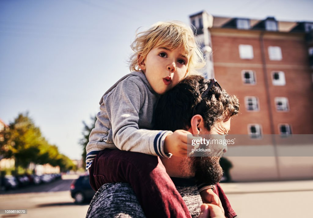 The bond between father and son : Stock Photo