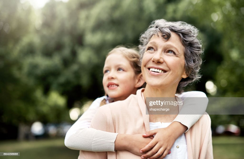 The bond between grandparent and grandchild is uniquely special : Stock Photo