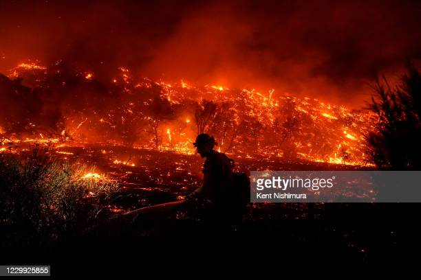 The Bond Fire, started by a structure fire that extended into nearby vegetation on Thursday, Dec. 3, 2020 in Silverado, CA. Dangerous fire weather...