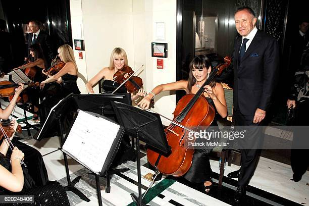 The Bond Girls and Laurence Graff attend GRAFF Flagship Salon Opening hosted by LAURENCE GRAFF at Graff Flagship Salon on November 13 2008 in New...