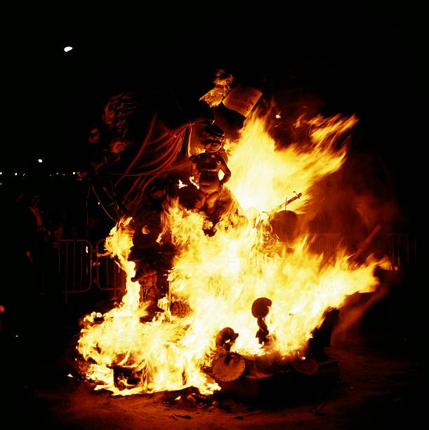 the bonfires on last day of fallas of st joseph pictures getty images
