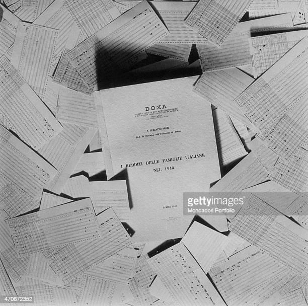 The book by Pierpaolo Luzzatto Fegiz called I redditi delle famiglie italiane nel 1948 published by Doxa on 1949 1940s