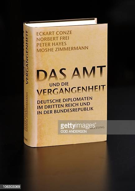 The book 'Das Amt und die Vergangenheit' is seen at the release of the report on Nazi Germany's foreign ministry and it's involvement in the...