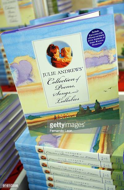 The book Julie Andrews' Collection of Poems Songs and Lullabies is displayd at Macy's Herald Square on October 8 2009 in New York City