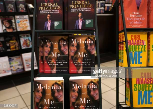 "The book ""Melania and Me: The Rise and Fall of My Friendship with the First Lady"" by Stephanie Winston Wolkoff is viewed on display at Barnes & Noble..."