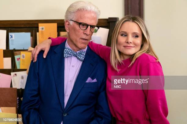 "The Book of Dougs"" Episode 311 -- Pictured: Ted Danson as Michael, Kristen Bell as Eleanor --"