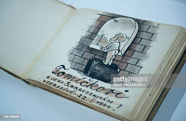 The book of drawings For Tommy for his third birthday in Theresienstadt 2211944 made by Czechoslovakian Jewish graphic designer and artist Bedrich...