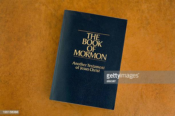 The Book of Mormon on an orange background