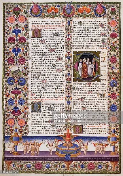 The Book of Psalms from Volume I of the Bible of Borso d'Este illuminated by Taddeo Crivelli and others Latin manuscript 422423 parchment 14551461...