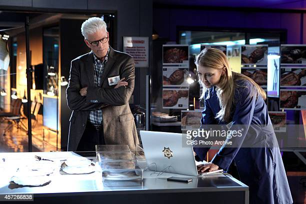 """The Book of Shadows"" -- D.B. Russell listens as Morgan Brody shows him something on her laptop while they investigate a chemistry teacher's science..."