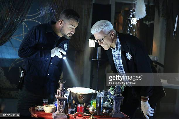 """The Book of Shadows"""" -- Nick Stokes and D.B. Russell search the home of chemistry teacher Chet Messner and develop more questions as to why Messner's..."""