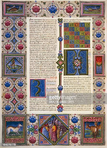 The Book of Zechariah from Volume II of the Bible of Borso d'Este illuminated by Taddeo Crivelli and others Latin manuscript 422423 folio 104 verso...