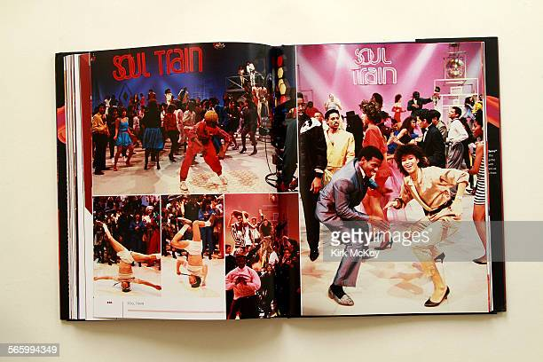 The book on Soul Train the dance show by Don Cornelius that sported wide lapels and afros Metallic jumpsuits and headbands baggy pants and the fades...