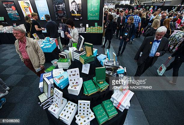 The book Violenza e Islam written by Syrian poet Ali Ahmad Said Esber also known by the pen name Adonis is displayed during the 2016 Book Fair in...
