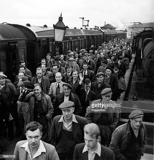 The Book Volume 1 PagePicture1950 Sellafield West Cumberland Atomic energy workers arrive for work after travelling on the train