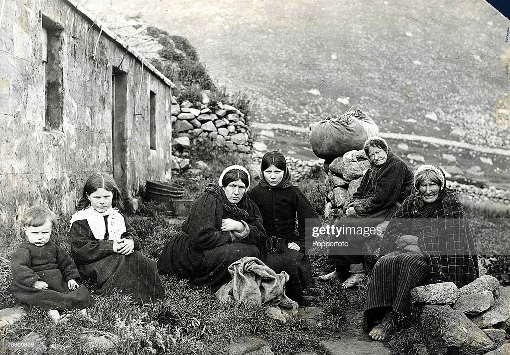 The Book, Volume 1, Page. 16, Picture 5.St. Kilda, Outer Hebrides. Scotland. Three generations of the female side of the same family pose for the camera. : News Photo