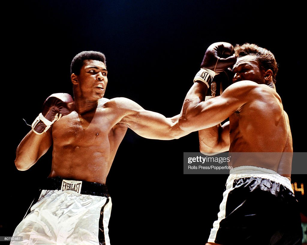 The Book, Volume 1, Page, 10, Picture, 8 Boxing. 14th November,1966. Houston, Texas. Action from the bout between Cassius Clay and Cleveland Williams. Clay won by knock-out in the third round to retain his World Heavyweight title. : News Photo