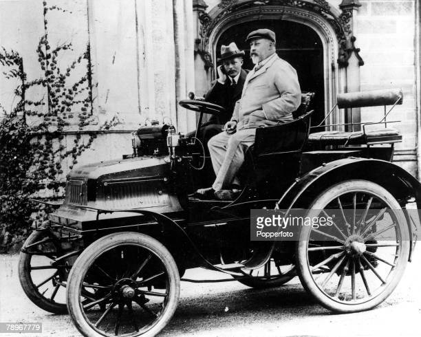 The Book Volume 1 Page PictureLord Montague of Beaulieu and the Prince of Wales later King Edward VII drive in oldfashioned motor car