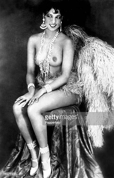 The Book Volume 2 Page Picture 1920's A picture of the US exotic dancer entertainer and actress Josephine Baker posing topless for the camera