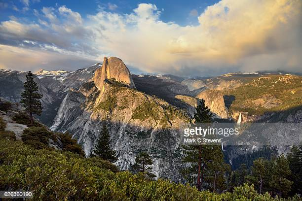 the bookend view to a beautiful day in yosemite - bookend stock pictures, royalty-free photos & images