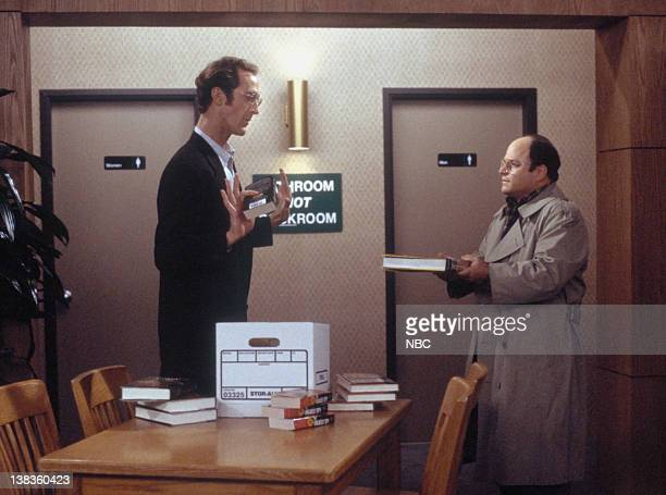 SEINFELD The Bookstore Episode 17 Pictured Jon Gries as Rusty Jason Alexander as George Costanza