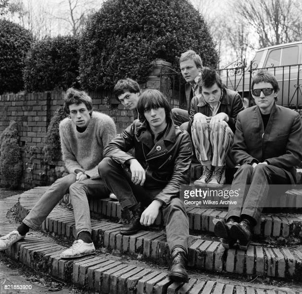 The Boomtown Rats left to right Bob Geldof Pete Briquette Garry Roberts Simon Crowe Johnny Fingers and Gerry Cott