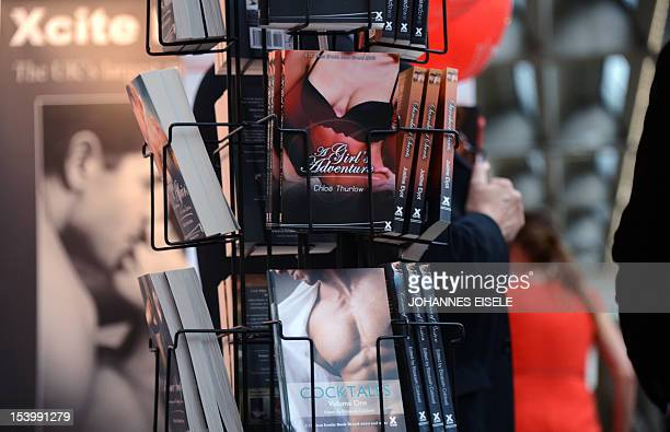 The booth of Britain's erotic publisher Xcite is pictured at the 64th Frankfurt Book Fair in Frankfurt western Germany on October 12 2012 This year's...