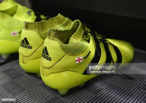The boots of Harry Winks are seen prior to the 2016 International Champions Cup match between Juventus FC and Tottenham Hotspur at Melbourne Cricket...