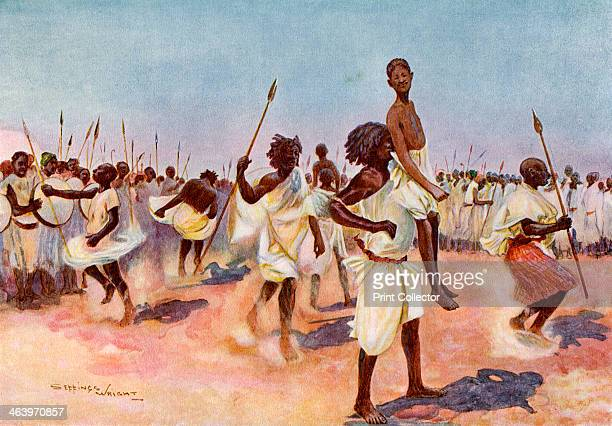 The Borana Bororansi dance Somaliland A print from Customs of the World Volume II Hutchinson and Co Paternoster Row London