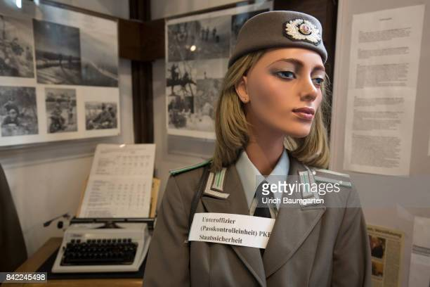 The Border Country Museum formerly directly on the border with the GDR in Schnackenburg at the Elbe river Relics from the time of the division of...