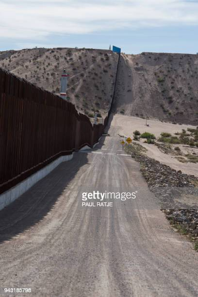 The border fence is pictured at Anapra New Mexico near El Paso and Ciudad Juarez Saturday April 7th days after US President Donald Trump had ordered...