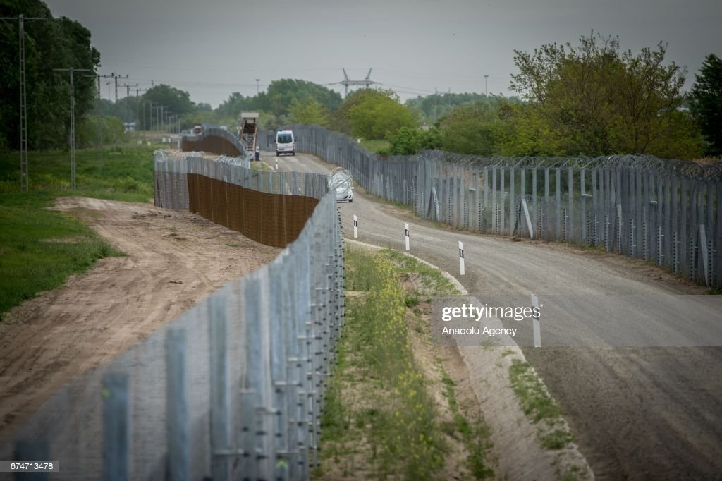 The border fence on the Hungarian-Serbian border is seen near Roszke, 180 kms southeast of Budapest, Hungary, Friday, April 28, 2017