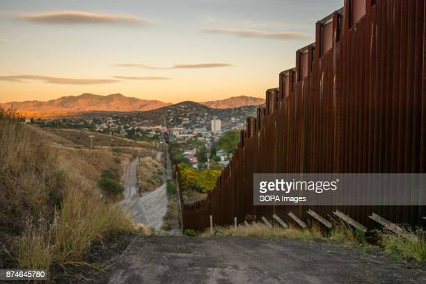 The border wall at the US Mexico border in the city of Nogales Arizona According to the US Customs and Border Protection there are at least 580 miles...