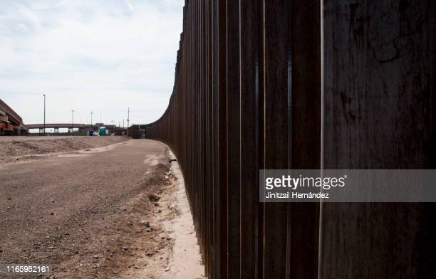 The border wall in El Paso, Texas as seen on Aug. 23, 2019.
