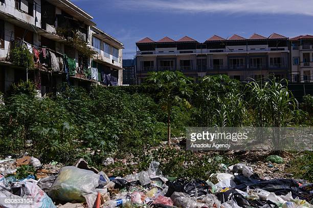 The Borei Keila site whose residents were forcibly evicted five years ago is seen in Phnom Penh Cambodia on January 3 2017Families were evicted from...