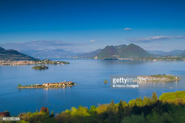 the borremean islands. lake maggiore, italy. - stresa stock pictures, royalty-free photos & images