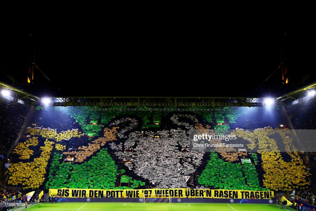 The Borussia Dortmund Fans Hold A Banner To Remember Their Uefa News Photo Getty Images