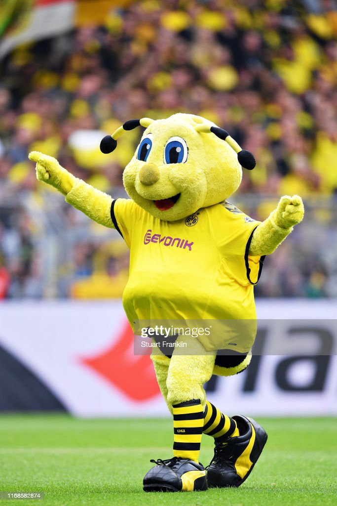 Emma The Borussia Dortmund Mascot Entertains The Crowd Before The News Photo Getty Images