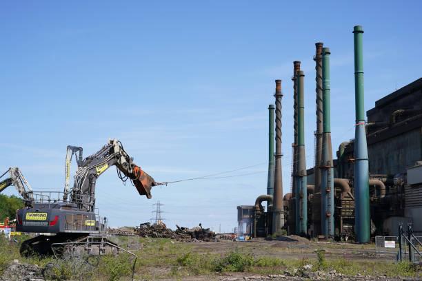 GBR: Demolition of Redcar Blast Furnace
