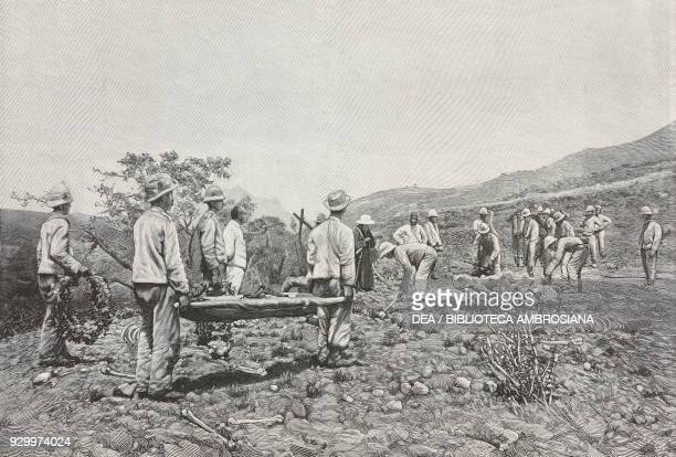 The Boselli company burying the dead from the Battle of Adwa in the valley of Mariam Sciavitu ItaloAbyssinian War Ethiopia photograph by Eduardo...