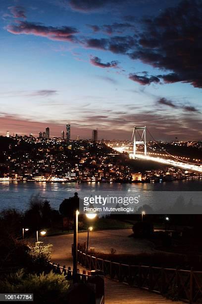 The Bosphorus Bridge at sunset