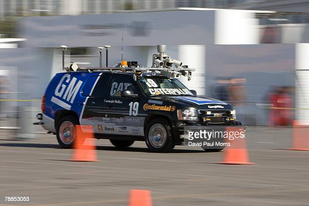'The Boss' a driverless automobile is seen at the 2008 International Consumer Electronics Show at the Las Vegas Convention Center January 9 2008 in...