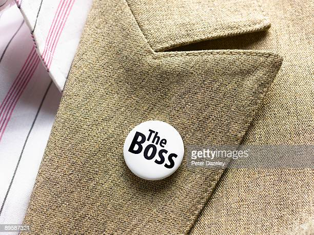 'The Boss' button badge